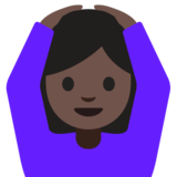 Person Gesturing OK: Dark Skin Tone on Google Android 7.0