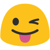 Winking Face with Tongue on Google Android 7.0