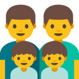 Family: Man, Man, Boy, Boy on Google Android 7.0