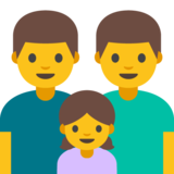 Family: Man, Man, Girl on Google Android 7.0