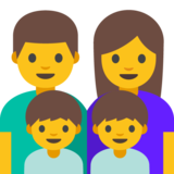 Family: Man, Woman, Boy, Boy on Google Android 7.0