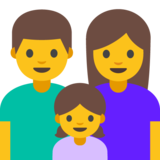 Family: Man, Woman, Girl on Google Android 7.0