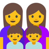 Family: Woman, Woman, Boy, Boy on Google Android 7.0