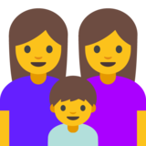 Family: Woman, Woman, Boy on Google Android 7.0