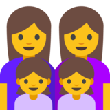 Family: Woman, Woman, Girl, Girl on Google Android 7.0