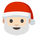 Santa Claus: Light Skin Tone on Google Android 7.0