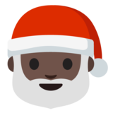 Santa Claus: Dark Skin Tone on Google Android 7.0