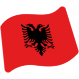 Flag: Albania on Google Android 7.0