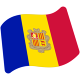 Flag: Andorra on Google Android 7.0