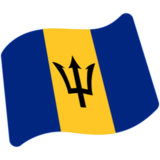 Flag: Barbados on Google Android 7.0