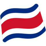 Flag: Costa Rica on Google Android 7.0