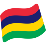 Flag: Mauritius on Google Android 7.0