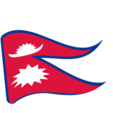 Flag: Nepal on Google Android 7.0