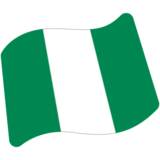 Flag: Nigeria on Google Android 7.0
