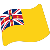 Flag: Niue on Google Android 7.0