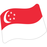 Flag: Singapore on Google Android 7.0