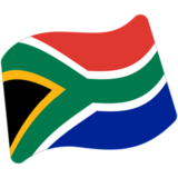 Flag: South Africa on Google Android 7.0