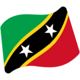 Flag: St. Kitts & Nevis on Google Android 7.0