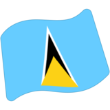 Flag: St. Lucia on Google Android 7.0