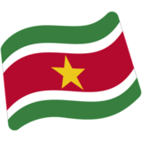 Flag: Suriname on Google Android 7.0