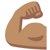 Flexed Biceps: Medium Skin Tone on Google Android 7.0
