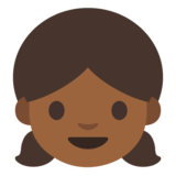 Girl: Medium-Dark Skin Tone on Google Android 7.0