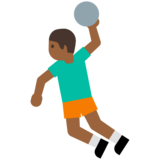 Person Playing Handball: Medium-Dark Skin Tone on Google Android 7.0