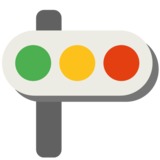 Horizontal Traffic Light on Google Android 7.0