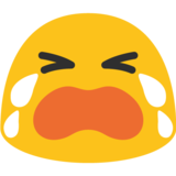 Loudly Crying Face on Google Android 7.0