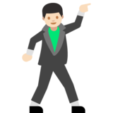 Man Dancing: Light Skin Tone on Google Android 7.0