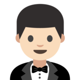 Person in Tuxedo: Light Skin Tone on Google Android 7.0