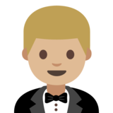 Person in Tuxedo: Medium-Light Skin Tone on Google Android 7.0