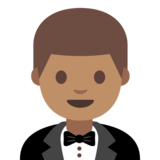 Person in Tuxedo: Medium Skin Tone on Google Android 7.0