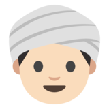 Person Wearing Turban: Light Skin Tone on Google Android 7.0