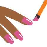Nail Polish: Medium-Dark Skin Tone on Google Android 7.0