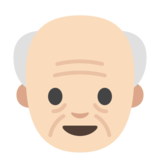 Old Man: Light Skin Tone on Google Android 7.0