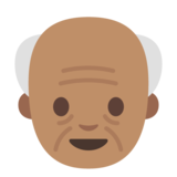 Old Man: Medium Skin Tone on Google Android 7.0