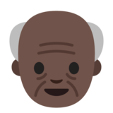 Old Man: Dark Skin Tone on Google Android 7.0