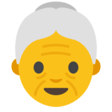 Old Woman on Google Android 7.0