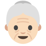 Old Woman: Light Skin Tone on Google Android 7.0