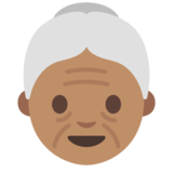 Old Woman: Medium Skin Tone on Google Android 7.0
