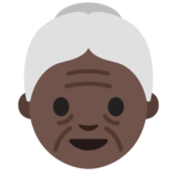 Old Woman: Dark Skin Tone on Google Android 7.0