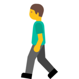 Person Walking on Google Android 7.0