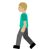 Person Walking: Medium-Light Skin Tone on Google Android 7.0