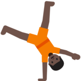 Person Cartwheeling: Dark Skin Tone on Google Android 7.0