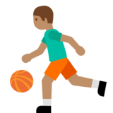 Person Bouncing Ball: Medium Skin Tone on Google Android 7.0