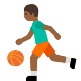 Person Bouncing Ball: Medium-Dark Skin Tone on Google Android 7.0