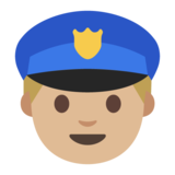 Police Officer: Medium-Light Skin Tone on Google Android 7.0