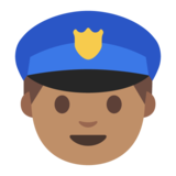 Police Officer: Medium Skin Tone on Google Android 7.0