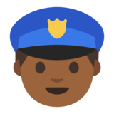 Police Officer: Medium-Dark Skin Tone on Google Android 7.0